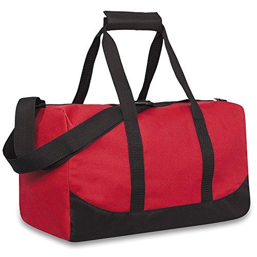 Trail maker Bolsas De Lona De Lona De 30 litros Y 17 Pulgadas para Hombres Y Mujeres - Bolsas De Lona De Mano para Llevar Al Hombro De Viaje De Fin De Semana Unisex-Adulto|Rojo|