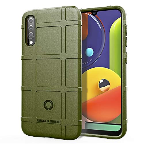 MENGHONGLLI Teléfonos móviles Maletas de Transporte Funda de TPU a Prueba de Golpes de Cobertura Total for Galaxy A50s (Color : Army Green)