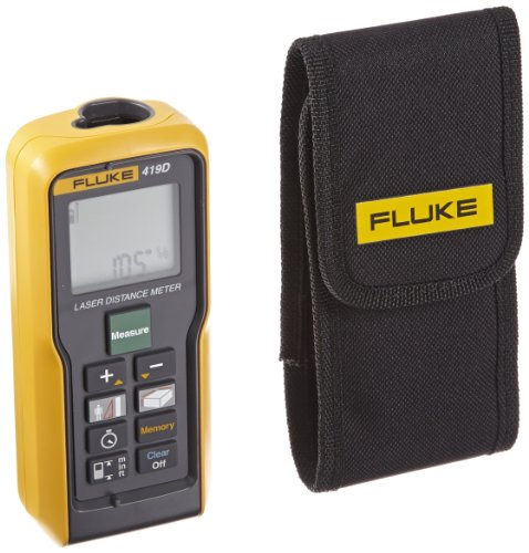 Fluke 419D Laser Distance Meter, II Class, 80m Range, 1mm Accuracy