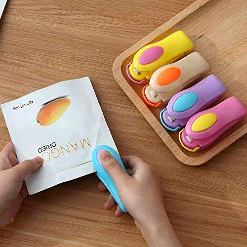 PMGCARES Portable Mini Handheld Heat Super Sealer Sealing Machine for Food Storage Vacuum Sealer Bags (Multicolor)