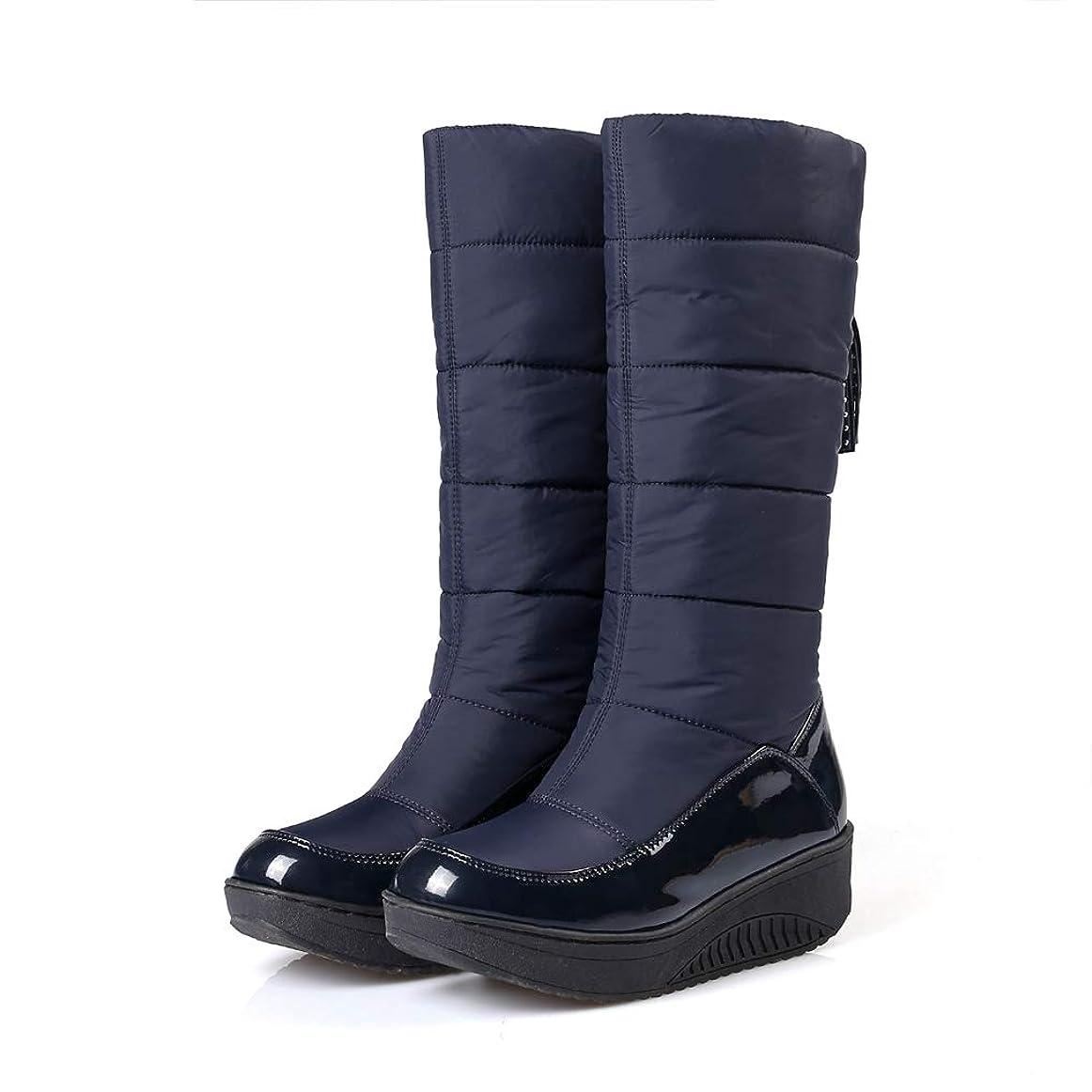 頼る裏切り無線[SENNIAN] ロングブーツ レディース ウェッジヒール ブーツ 黒 ハイヒール ギフト 疲れない カジュアル シンプル サイドゴア 歩きやすいハロウィン キャバブーツ 厚底ブーツ 雪靴 登山靴 綿靴 おしゃれ レインブーツ