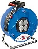 Brennenstuhl 1208060 1208060-Avvolgicavo Garant, 50 m, H05VV-F 3G1,5, Blu, 50m
