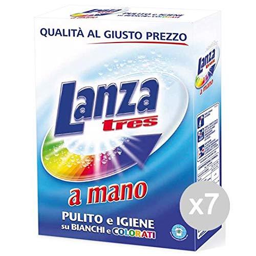 Lanza Set 7 3 Mano Gr 570 Detersivo Lavatrice E Bucato, Multicolore, Unica