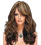 Forever Young Ladies peluca larga marrón Chocolate & Miel Rubio Ondulado estilo moda peluca Hi-Light rizado completo peluca