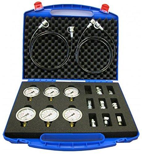 Messkoffer, Manometer, Hydraulik, Pneumatik, Messtechnik, Glycerin Manometer Ø 63mm, Güteklasse: 1,6 Koffer Farbe vom Bild abweichend