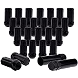SCITOO 24PCS+2Keys Black Lug Nuts Spline for 3/4' Socket Key Drive Close End, 51mm Tall, 14X2.0 Thread, Fits for Ford Expedition/Ford F-150/Lincoln Mark LT/Lincoln Navigator 1997-2014