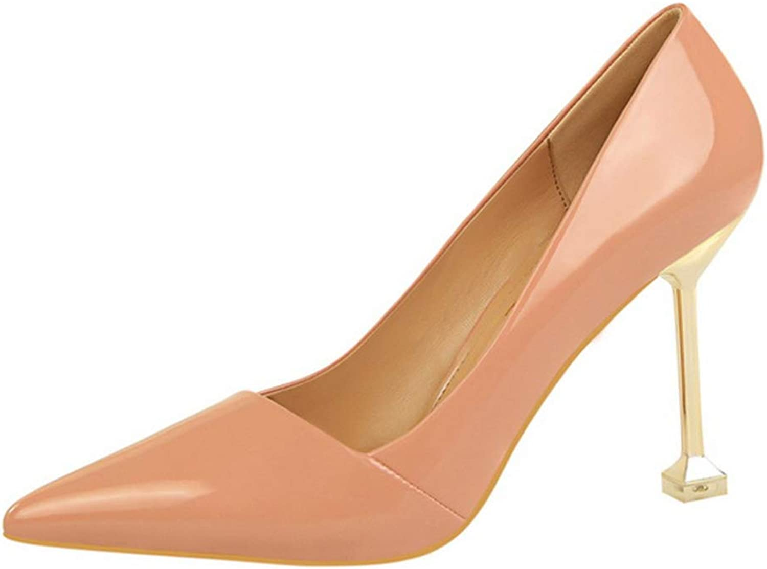 Drew Toby Womens Pumps Fashion Simple Ol Patent Leather Pointed Toe Sexy High Heels