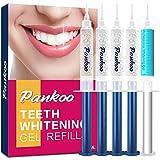 Teeth Whitening Gel Refill Syringe Pack, 4 x 3ml Carbamide Peroxide and 1x 3ml Desensitization Gel, Tooth Whitening Gel Works with Teeth Whitening LED Light, Natual Whitener for Sensitive Tooth Bleach