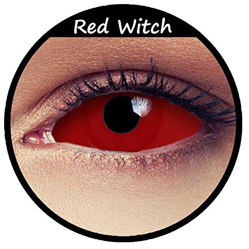 Rote Sclera Zombie Kontaktlinsen 22mm Linsen Halloween Kostüm Cosplay Larp