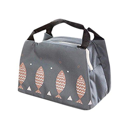 Sac isotherme Xshuai pour déjeuner et pique-nique - Portable et étanche - Tissu Oxford - Pour ranger une boîte à lunch - 22 x 15,5 x 16,5 cm , a, Size:22*15.5*16.5cm
