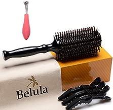 Boar Bristle Round Brush for Blow Drying Set. Round Hair Brush With Medium 2.4