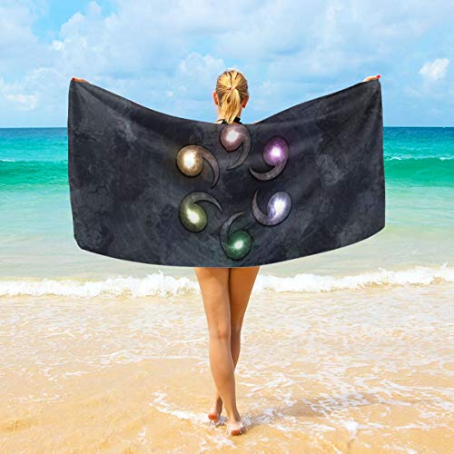 Skylivenation Uzumaki Naruto Namikaze Minato Uzumaki Kushina Toalla de baño – Super suave y altamente absorbente calidad Peshtemal Villus toalla de playa ideal para playa o como manta 81,3 x 162,6 cm