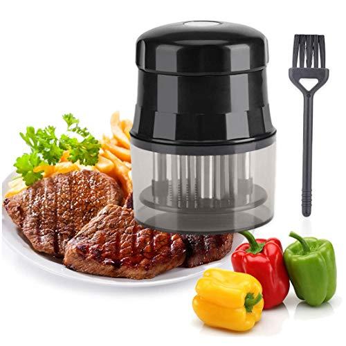 Fleischzartmacher Fleischklopfer Professionelle Küchengeräte Rindfleisch Steak Hühnerhärtungswerkzeuge 56-Poliger Edelstahl Fleischklopfer Mit Ölbürste.