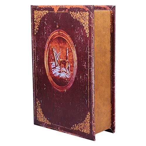 Hemoton Caja de Libro Falso Libros Decorativos Vintage Libros de La Biblia Cajas de Joyería para El Hogar Decoraciones de Estantería Cofre del Tesoro Estilo B