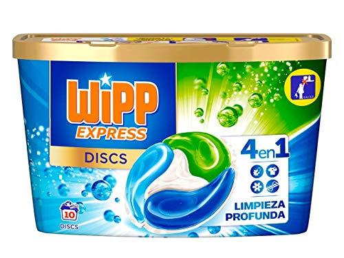 Wipp Express DISCS Detergente en Cápsulas 4 en 1 - 10 Dosis