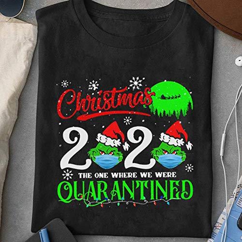 Christmas Grinch Wears Mask The One Where We Were Quarantined 2002 Merry Christmas Shirt Hoodie, Sweatshirt, Long Sleeve, Ladies's Short