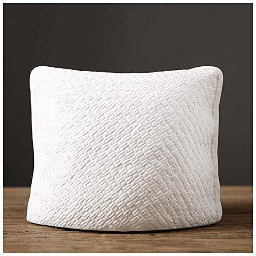 Vaso in ceramica bianca intrecciata di bambù di grande diametro nordico Soggiorno Scrivania Tavolino da salotto Decorazione Mobile TV Accessori da scrivania Tre pezzi 10-26 ( Size : A-22.5*18.5cm )