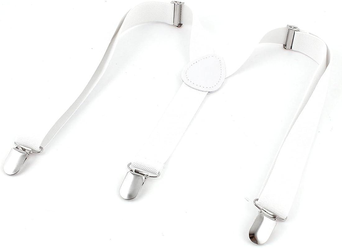 Man 2.4cm Wide Adjustable Stripe Partten Stretchy Suspenders Braces