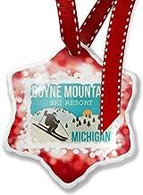 Enidgunter Christmas Decoration Ornament Boyne Mountain Ski Resort - Michigan Ski Resort, Red 3 inch