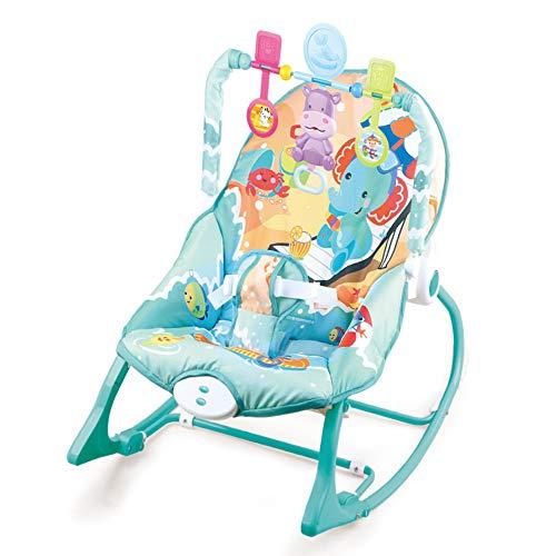 LYN&xxx Baby-Rocker Schaukel und Stuhl, tragbare 2 in 1 Baby Bouncer-Stuhl und Rocker mit Musik, Vibration und Spielen Spielzeug .Newborn-to-Kleinkind