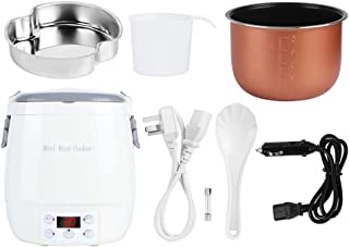 WEIkekejiji 1. 6L Draagbare Elektrische Mini Rijstkoker Smart Voedsel Steamers Voor Home Auto Gebruik Au 220V Sigarettenaa...