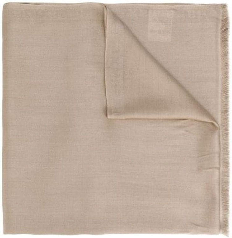 Max Mara Women's 45411596000003 Beige Silk Scarf