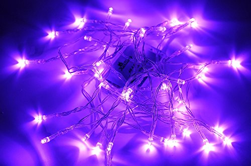 Karlling Battery Operated Purple 40 LED Fairy Light String Wedding Party Xmas Decorations(Purple)