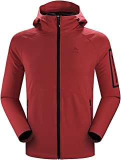 KAILAS Softshell Jacket Men Hooded Outdoor Jackets Windproof Water Resistant for Hiking Casual Work