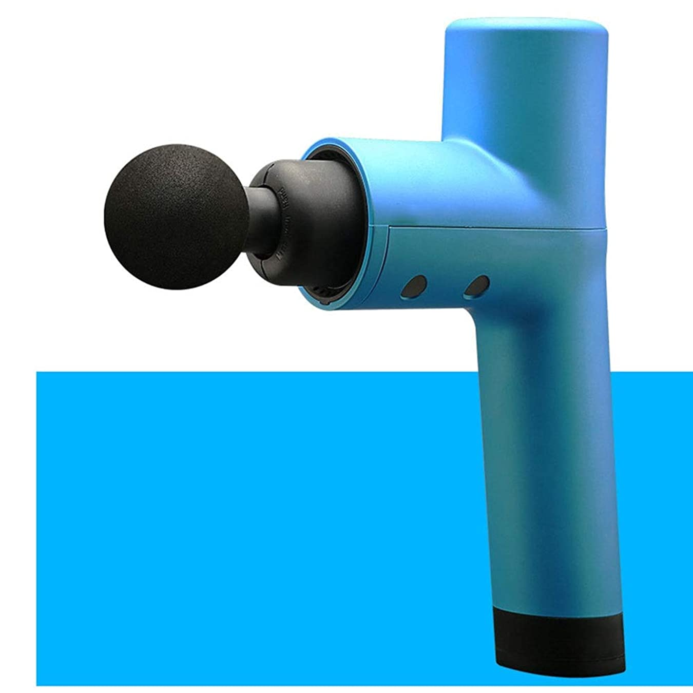 故意に用心インスタンスディープマッスルマッサージ、電動筋膜銃、筋肉の疲労を和らげる、4速周波数制御振動、4マッサージヘッド、サイズ:18.8x6.2x25.2cm 便利