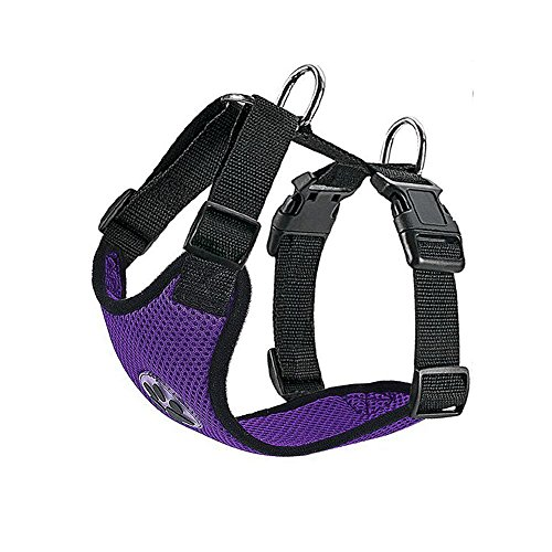 SlowTon Dog Harness, Pet Vest Harness for Dogs Safety in Car Adjustable Neck and Chest Strap Breathable Soft Fabric Multifunctional Vest with Quick Release for Travel Walking Daily Use New York