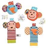 Twister.CK Traqueteo de bebé, 4 pzas, sonajeros de muñeca de bebé y Juego de...