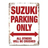 Sary buri Parking Only Swift Vitara Gsxr Sv Bike Tin Sign Metal Sign TIN Sign 7.8X11.8 INCH