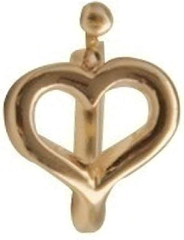 1Pc Simple Hollow Heart Ear Cuff Clip Non Piercing Earring Jewelry Gift for Women Girls