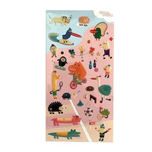 Monopoly 11565 - Pegatinas con diseño Animal League