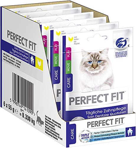 PERFECT FIT Oral Care mit Huhn, 6er Pack (6 x 55g)