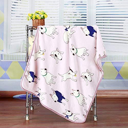 KTUCN Verdicken Sie warmes Katzenhundebett, Bull Terrier Bedruckte weiche Deckenmatte, für kleine mittelgroße Hündchen Haustierprodukte, Rosa, 100x75cm
