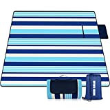 Mumu Sugar Outdoor Picnic Blanket, 3-Layer 80'x80' Extra Large Waterproof Foldable Picnic Mat - Beach Blanket Sand Proof for Camping,Park,Beach,Hiking, Family Concerts
