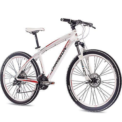 CHRISSON 26 Zoll Mountainbike Hardtail - Altero 2.0 Weiss - Hardtail Mountain Bike mit 24 Gang Shimano Deore Kettenschaltung - MTB Fahrrad für Herren und Damen Suntour Federgabel