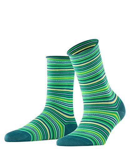 FALKE Damen Origin Stripe Socken, grün (Peacock 7373), 39-42