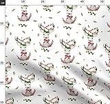 Wald, Hirsch, Urlaub, Weihnachten, Winter, Rot, Grün
