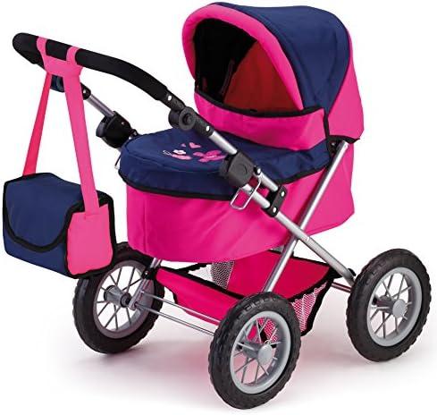 Bayer design passeggino per bambole trendy rosa/blu 13013