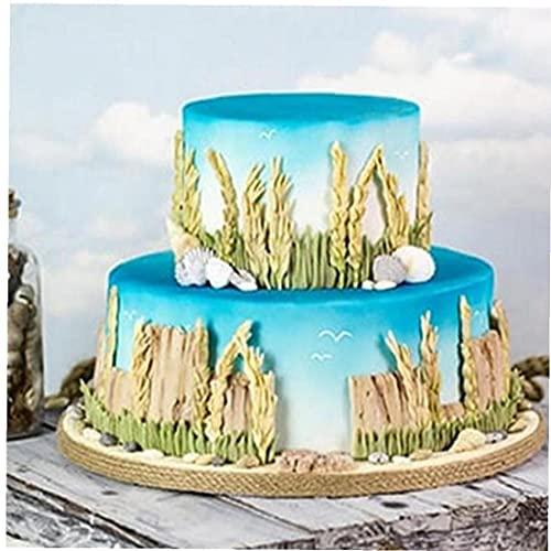 Cumpleaños Dulce De Azúcar De La Decoración De La Torta De La Torta del Molde del Silicón del De Chocolate del Molde De La Torta Prado Salvaje Lavanda Frontera