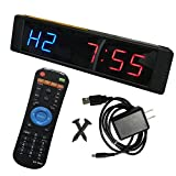 Seesii Interval Timer, Programmable LED Clock Stopwatch Sports for Fitness Crossfit Gym …