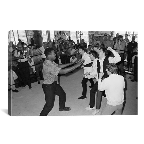 """iCanvasART The Beatles & """"The Greatest"""", Cassius Clay (Muham..."""