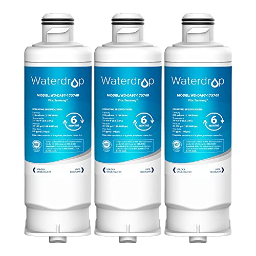 Waterdrop DA97-17376B Replacement for Samsung HAF-QIN/EXP Refrigerator Water Filter, Pack of 3