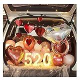 ASKLKD Coche Tronco Sorpresa Decoración Día de San Valentín 520 Confesión Propsiones Creativa Propuesta Romántica Escena Varias escenas decoración (Color : A)