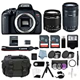 Canon EOS Rebel T7i Bundle with EF-S 18-55mm is STM & EF-S 55-250mm is STM Lens + Canon T7i Camera Advanced Accessory Kit Includes to Get Started