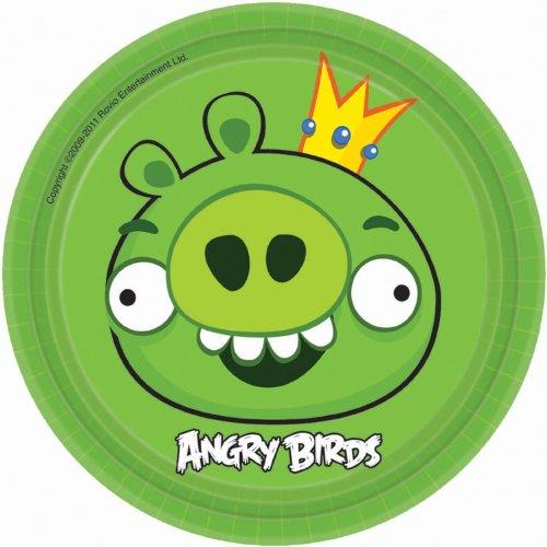 Generique - 8 Assiettes Carton Angry Birds 17cm