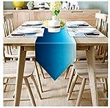 Tabla moderna Runner mar azul degradado Imprimir caminos de mesa for el banquete de boda decoraciones caseras de picnic Mesa de comedor Cover-1 PCS può essere all'ingrosso