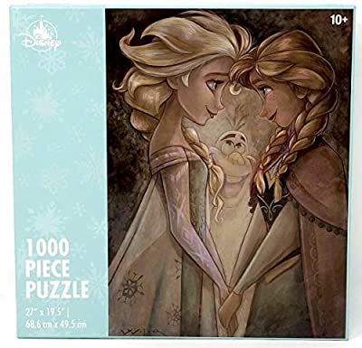 Disney Parks Frozen Anna, Elsa and Olaf by Darren Wilson 1000 Piece Jigsaw Puzzle